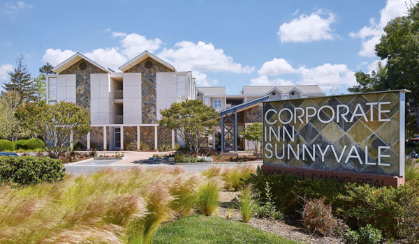 Location of Corporate Inn Sunnyvale, California