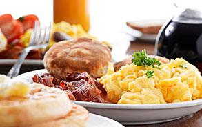Complimentary Healthy Buffet Breakfast at Sunnyvale Hotel